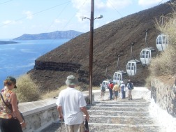 Getting down: trolley