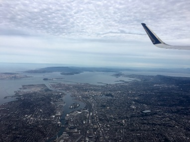 Flying over the San Francisco Bay